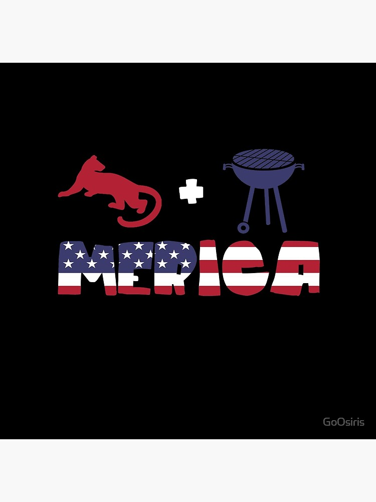 Cougar plus Barbeque Merica American Flag de GoOsiris