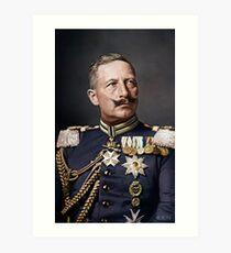 Kaiser Wilhelm II, 1908 colorized Art Print