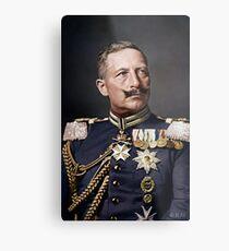 Lámina metálica Kaiser Wilhelm II, 1908 coloreado