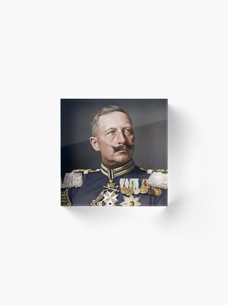 Alternate view of Kaiser Wilhelm II, 1908 colorized Acrylic Block