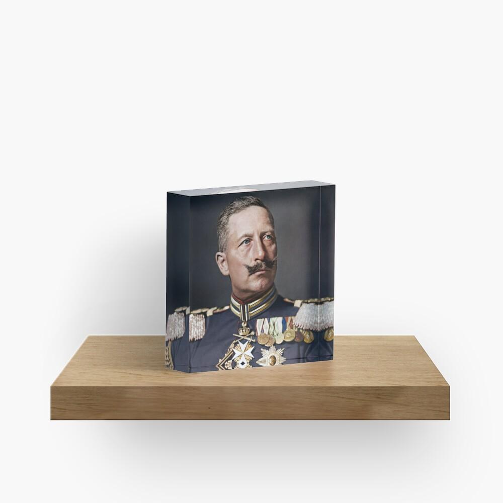 Kaiser Wilhelm II, 1908 colorized Acrylic Block