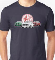Alfa Romeo Giulia Tri Colore Italian Flag Slim Fit T-Shirt