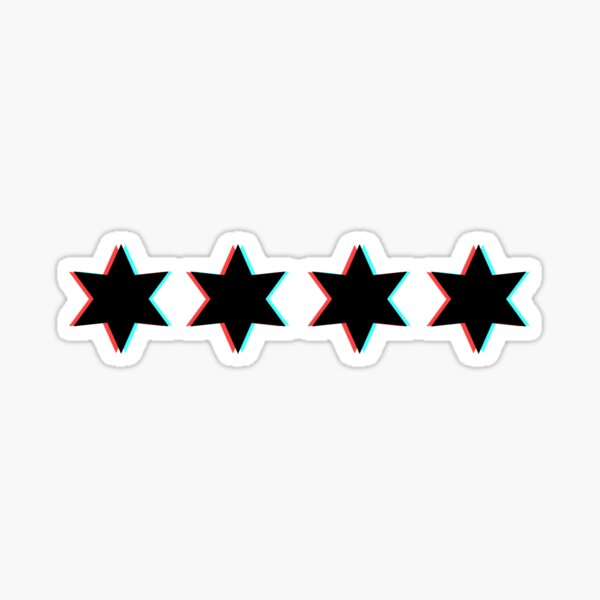 3D chicago stars  Sticker