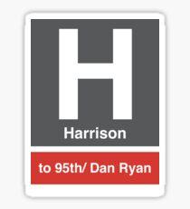 Harrison CTA Stop  Sticker
