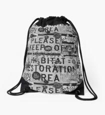 Please Keep Off Habitat Restoration Area Drawstring Bag