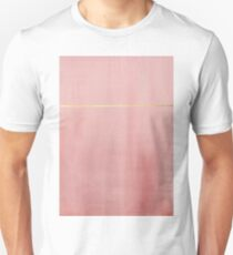 Abstract pink and gold simplistic minimal Unisex T-Shirt