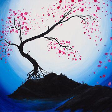 Blue Moon Cherry Blossoms after Brianna Fecarotta by L-Anais