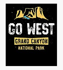 Grand Canyon National Park TShirt - Go West Family Vacation Photographic Print