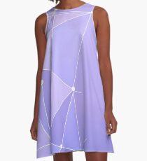 Lila Wand 2.0 A-Linien Kleid