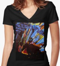 Metagabbro Women's Fitted V-Neck T-Shirt