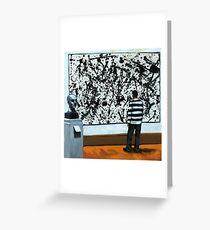 Getting Into Pollack - art museum series oil painting Greeting Card