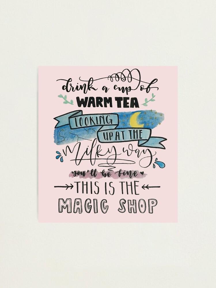 bts magic shop photographic print by milktae redbubble