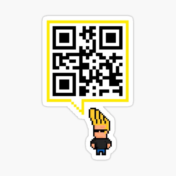 QR code - SEND NUDES , hidden message Sticker