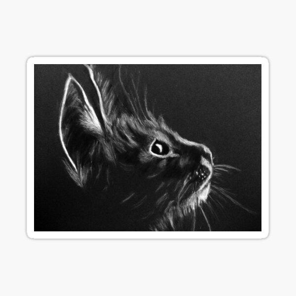 Scruffy Kitten Sticker