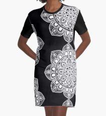 White Mural Mandala - Art&Deco By Natasha Graphic T-Shirt Dress