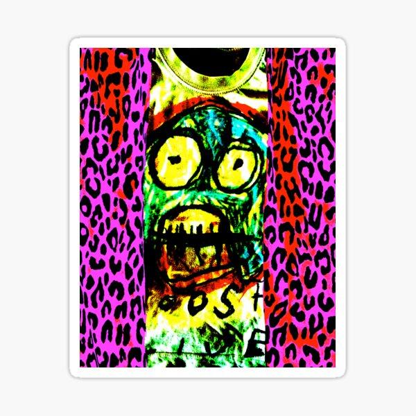 Leopard print baby Sticker