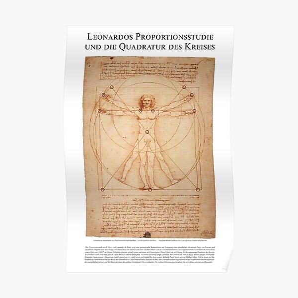 Leonardos Quadratur des Kreises Poster