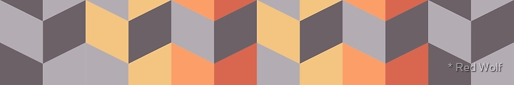 Geometric Pattern: Chevron: Sunset by * Red Wolf