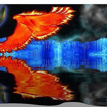 flight of the fire bird by happyartist