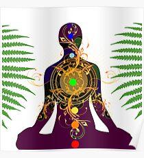 Yoga, Meditationsdesign Poster