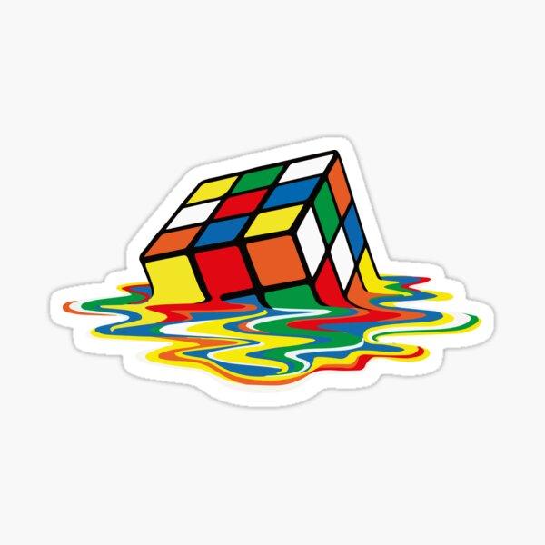 Rubik Cube Melted t Shirt, Original Gift Idea Sticker