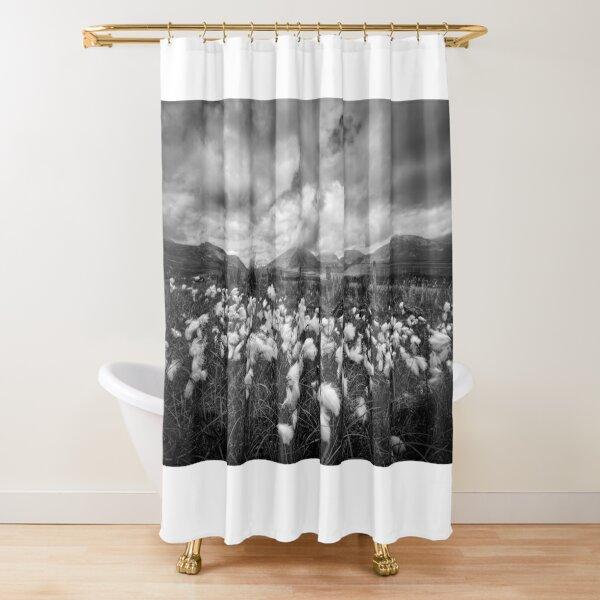 Mournes Bog Cotton Shower Curtain
