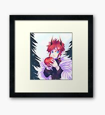 Dragon with Apple Framed Print