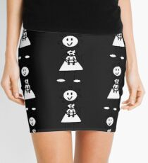 The Girl with the Curly Hair Holding Cat - Black Mini Skirt