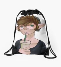 A Drink Drawstring Bag