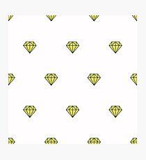 Geometric pattern with linear diamonds Photographic Print