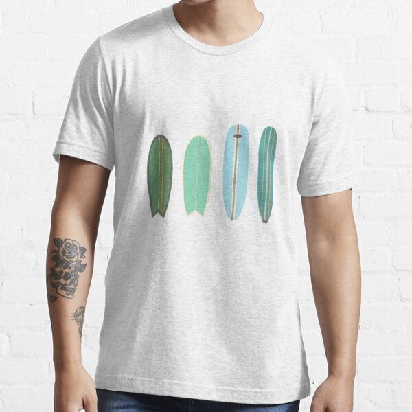 Surfboard line up blue-green Essential T-Shirt