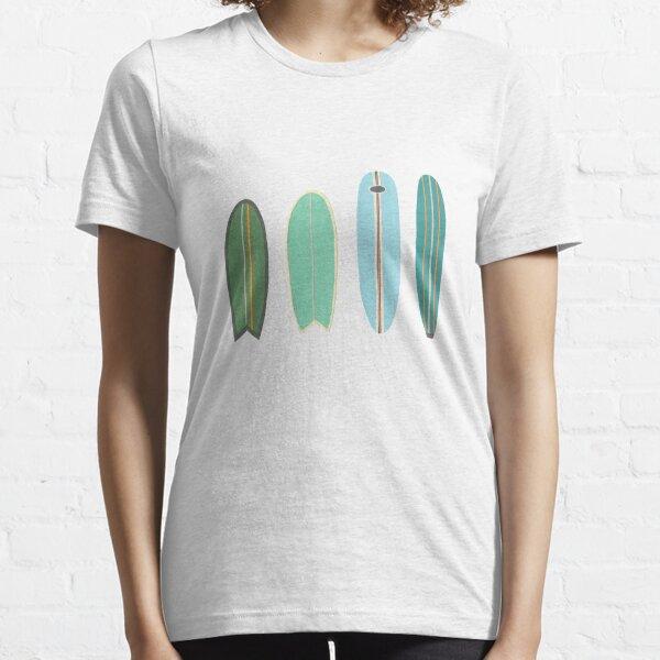 Surfboard line up blue-green Essential T-Shirt