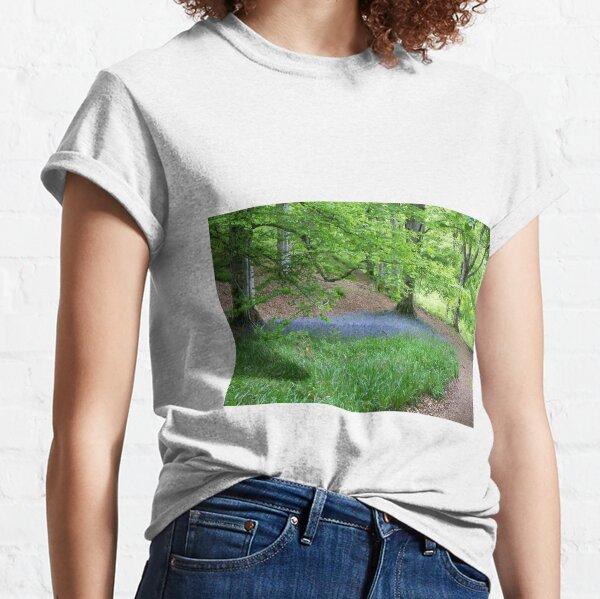 Bluebells under a beech tree Classic T-Shirt