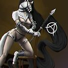 Poppy as an Anarchist - with Background by Lova-Gardelius