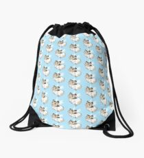 Cute lil' Hamster Angel Drawstring Bag
