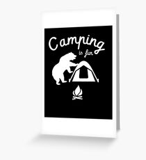 Funny Bear Graphic - Nature Adventurer Merch for Camping, Hiking Lovers Greeting Card