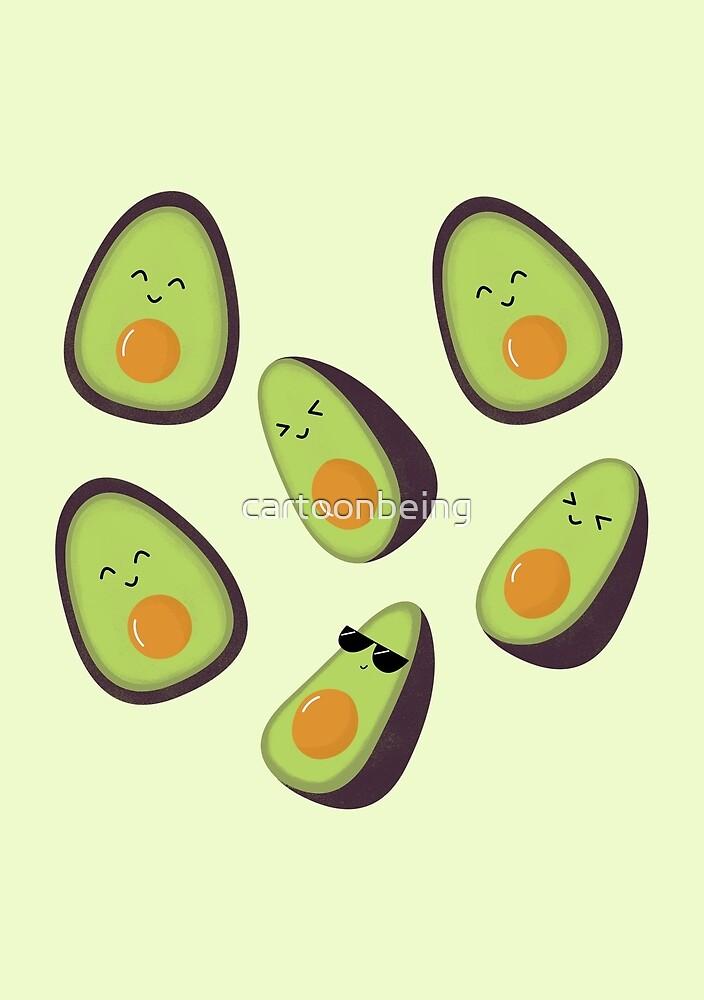 Happy Avocados by cartoonbeing