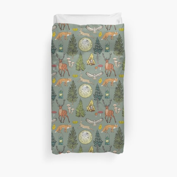 Forest adventure pattern Duvet Cover