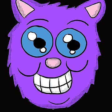 Grinning Purple Cat by Rajee