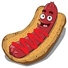 Hot Diggity Dog - with Ketchup by deancoledesign