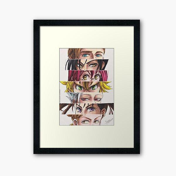 NnT: Sins' eyes Framed Art Print