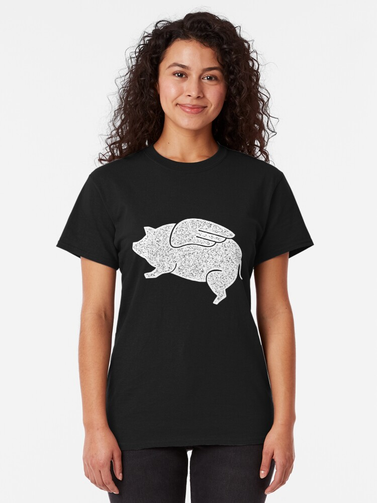 Alternate view of flying pig Classic T-Shirt