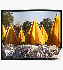 Yellow Umbrellas Poster