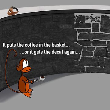Put the coffee in the basket by fridley