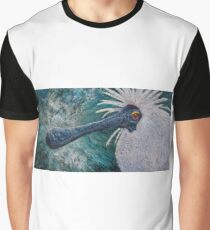 Royal Spoonbill (Platalea regia) Graphic T-Shirt