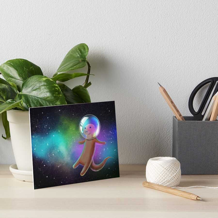 Otter Space Art Board Print