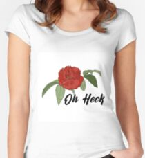 Oh Heck Flower Women's Fitted Scoop T-Shirt