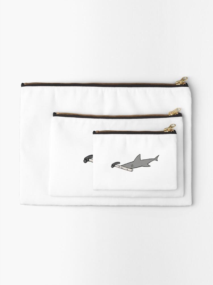 Alternate view of Hammerhead Shark Zipper Pouch