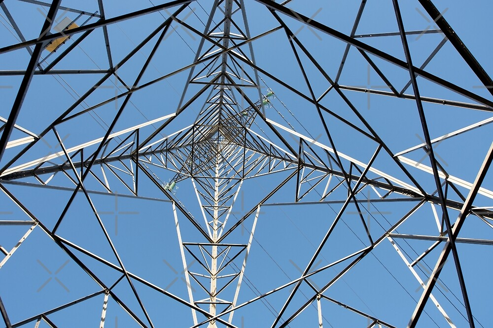 Inside an Electricity Pylon by SiobhanFraser