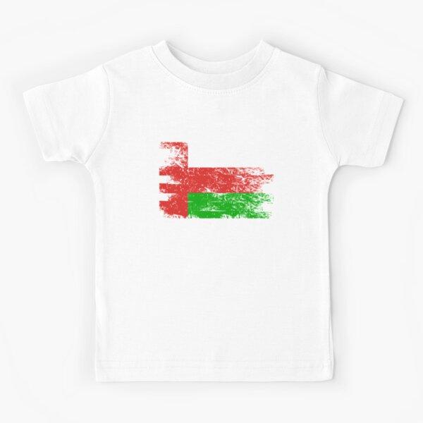 Oman Kid/'s T-Shirt Country Flag Map Top Children Boys Girls Unisex
